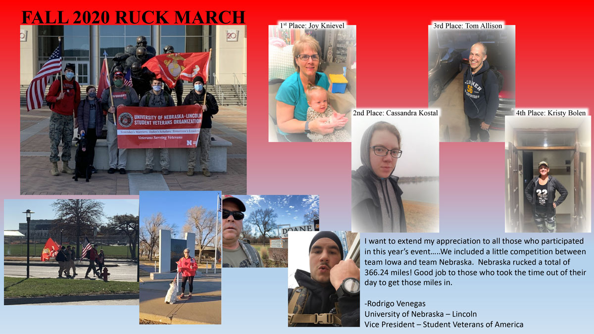 Collage of Ruck March participants